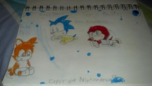 Sonic Heros as babies. by Themysterydrawer