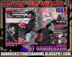 Taka Team Akatsuki Theme Windows XP by Danrockster