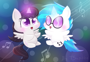 Vinyl and Octavia - A Princesses of Music by FreckledBastard