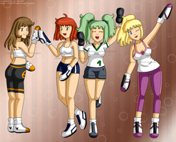[Commission] Sport Ladies v2 shoes by izka197