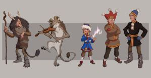 Saami characters full lineup by Detkef