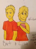 Bart and Lisa (request) by lizlizardx15
