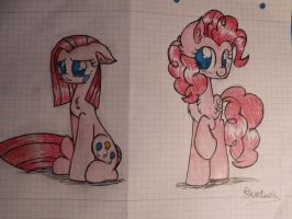 Pinkamena and Pinkie Pie by Ravenluck
