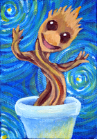 Itty Bitty Dancing Groot by TaksArt