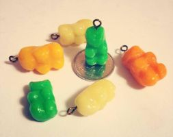 Gummy Bear Charms by kaylamckay