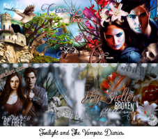 Twilight and The Vampire Diaries by byCreation