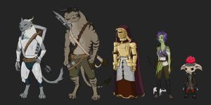 Gw2 Characters by Thrissir