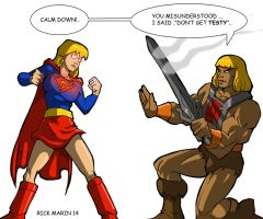 He_Man  meets  SUPERGIRL by Misterho