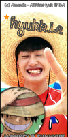 Eunhyuk as Luffy One Piece by AllRiseHyuk