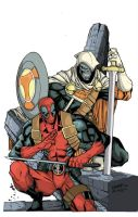 Deadpool And Taskmaster. by zavalaluiz51