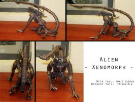 Alien - Xenomorph - Perspectives - Papercraft by ValhallaAsgard