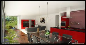 Red Interior by diegoreales
