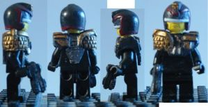 LEGO Custom Judge Dredd Movie Fig by ARMORMAN