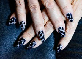 Quilted Nails by MayEbony