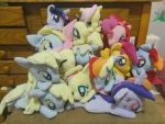 MOTHER OF CELESTIA, THE PLUSHIES. by Fallenpeach