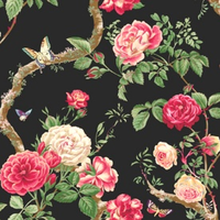 Scrapbook Black Floral Papers by Five5Cats