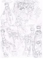 DC Comics Sketches by AimiisLoveBeautiful