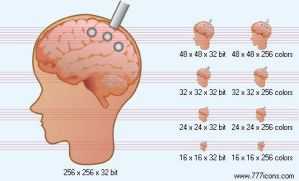 Brain probe Icon by medical-icon-set