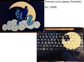 Princess Luna Laptop (Finished) by L9OBL