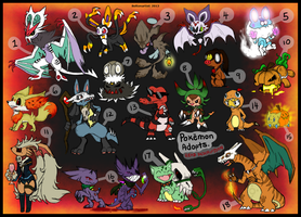 Pokemon Point adopts batch 7 :Closed: by Boltonartist