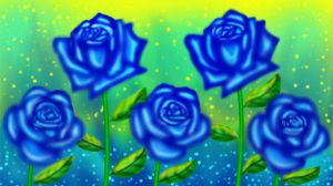 Blue Roses by cutecolorful