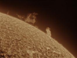 Solar prominences on July 10 by giovannigabrieli