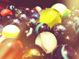macro of marbles by Dom410