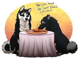 Date At Buffet by Zerwolf