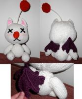 Custom Knitted Moogle Plush2 by OblivionMasquerade