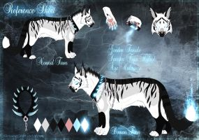 Ice Demon Tiger Ref Sheet by xXCougarXx