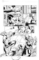 Spidey 3x3 pg1 inks by madman1