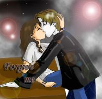 Arual and Nathan... Kiss by Grisom130292