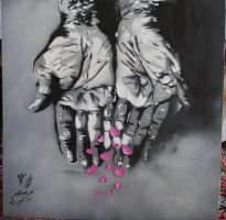 Old HAnds stencil by eliantART