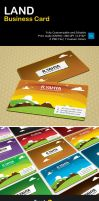 Freebie: Land Business Card by yahya12