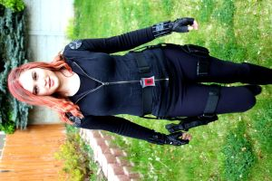 Black Widow costume #3 by AngelValiant
