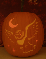 Jareth Owl Pumpkin Light Version by johwee