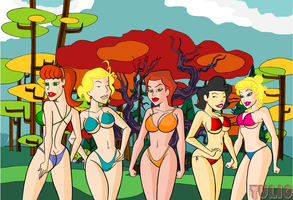 Cartoon Bikinis IV by TULIO19mx