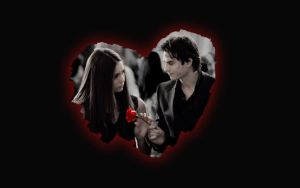 Damon and Elena - Rose by maybe55