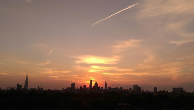 My city sunset by KerryBowles