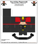 Toy-A-Day CD01 - Judge Dredd '2012' Papercraft by CyberDrone2-0
