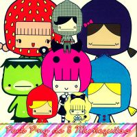 Pack de 8 Nenitos Png Kawaii by Lulitaas
