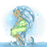 OC - Landa, the Flood Princess by Kasugaxoxo