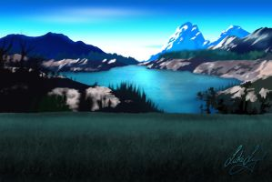 High Altitude Landscape by Lo-yal