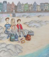Sunday at the beach by IcefieldArt