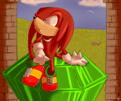 .:Knuckles:. by Mitzy-Chan