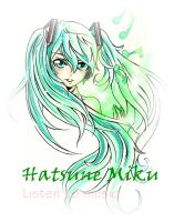 Hatsune Miku Coloured by alexahuke