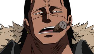 Crocodile from One Piece color by Afenie