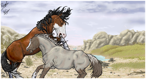 Mustang iScribble Collab by damustang