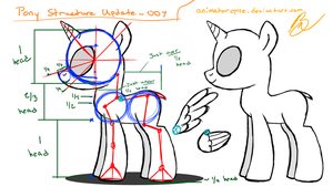 Pony Structure Guide_Base Mare007 by AffinityShy