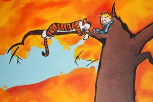 Calvin and Hobbes by Talisaurus